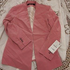 Zara pink Blazer tuxedo without lapel